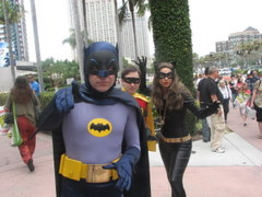 SDCCI, 60\'s Batman, Robin, Catwoman